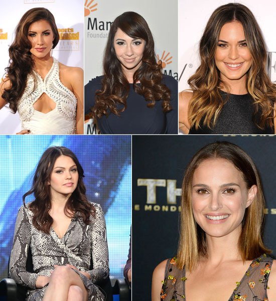 2014-Celebrity-Medium-Reddish-Brown-Sombre-Hair-Colors-for-straight-and-wavy-hair-styles-list