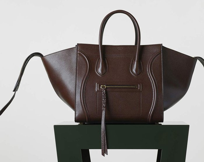 Celine-Medium-Phantom-Luggage-Tote-Brown