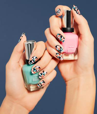 Sally Hansen Summer Nail Trend By Madeline Poole Tiny Floral